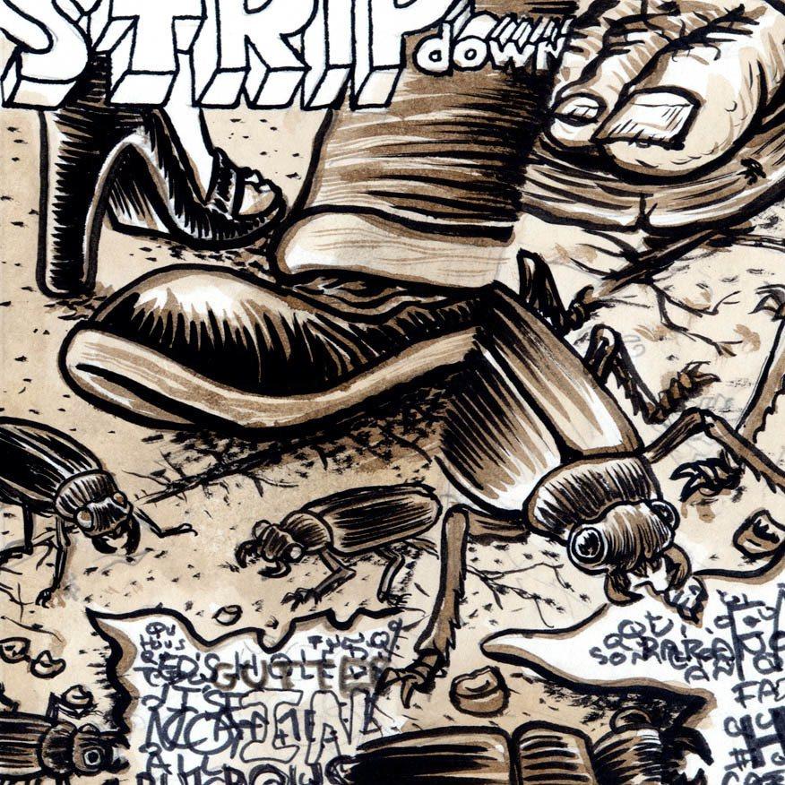 Strip Down 001 (Detail) ink on Paper Mike Bennewitz ©2004