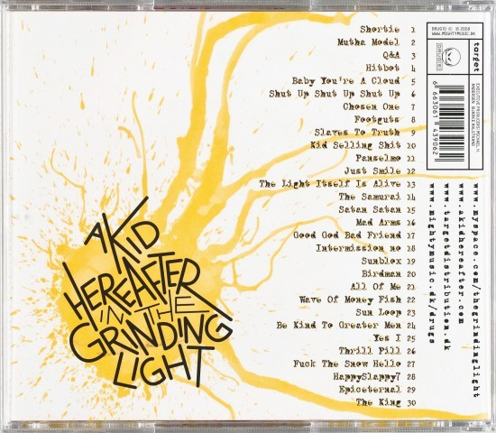 Back Cover: A Kid Hereafter in the Grinding Light by Mike Bennewitz aka butcherBaker