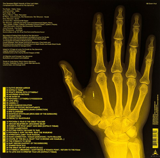 LP Back Cover for Secret Chiefs 3 Traditionalists: Le Mani Destre Recise Degli Ultimi Uomini by butcherBaker