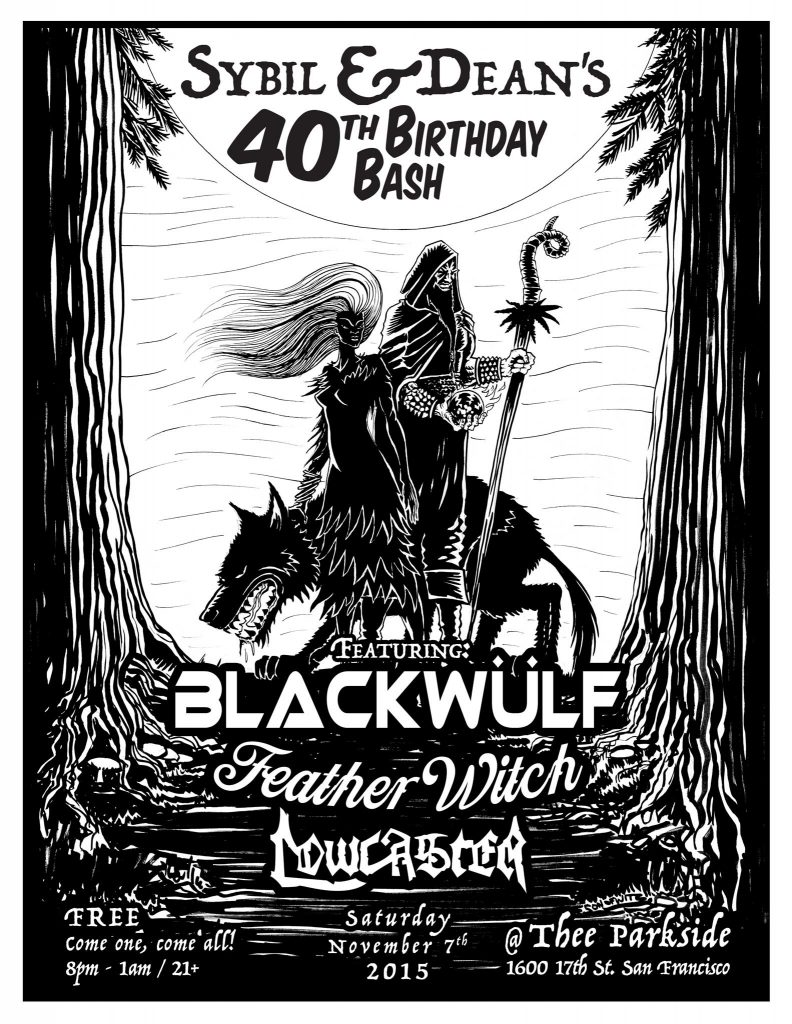 Blackwulf Featherwitch Lowcaster Flyer by butcherBaker