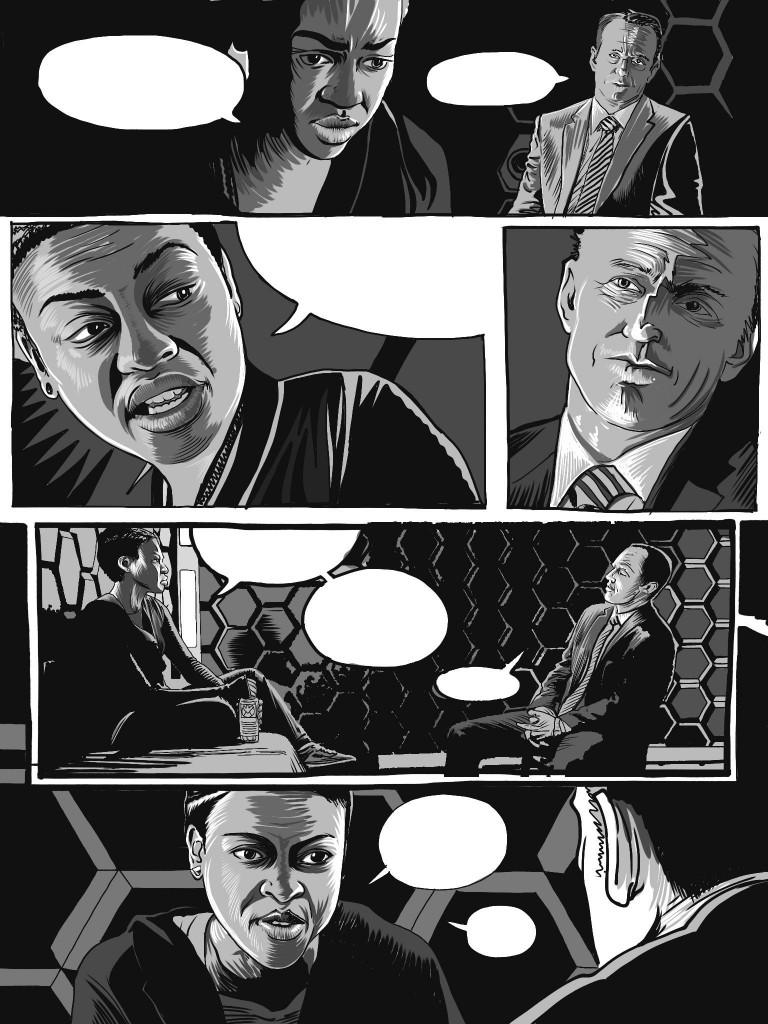 Eye Spy Interrogation Study by Mike Bennewitz drawn in Procreate