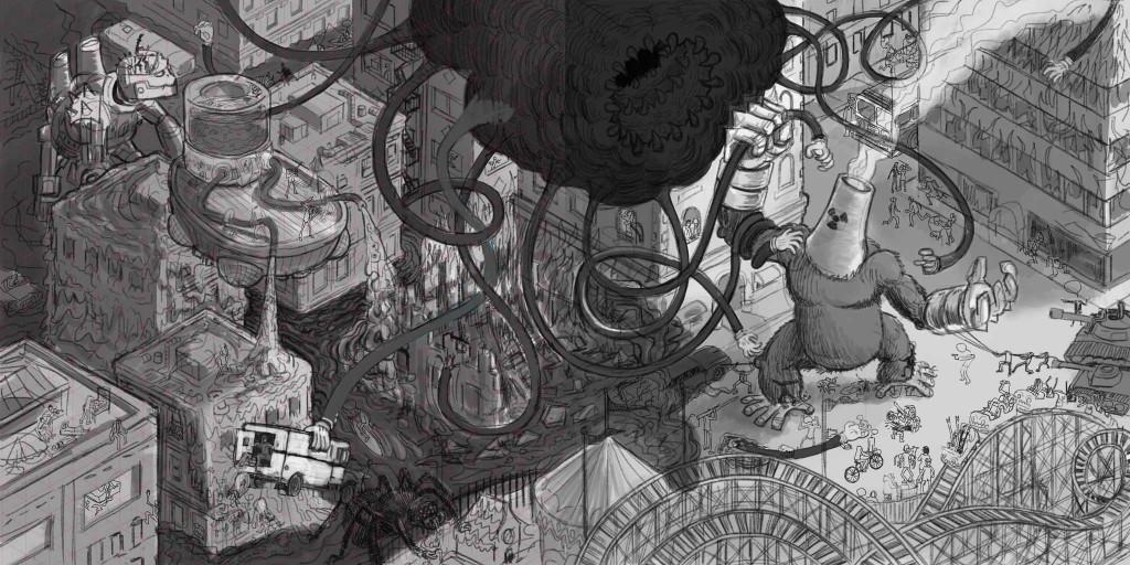 Atomic Ape Swarm tone Sketch ©Sonofwitz