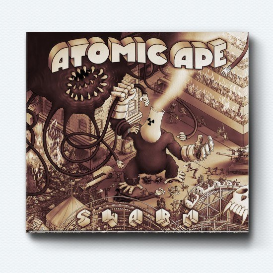 Atomic Ape Digipak Cover by Mike Bennewitz Sonofwitz butcherBaker