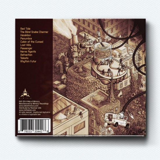 Atomic Ape back cover digipak by butcherBaker