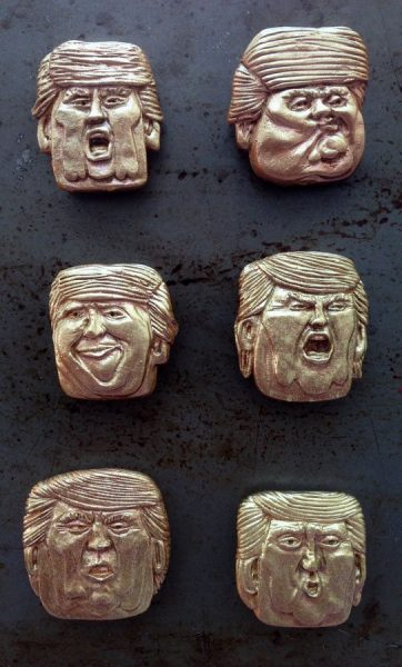 First Batch of Trumpie caricature mini masks by Son of Witz ©2017